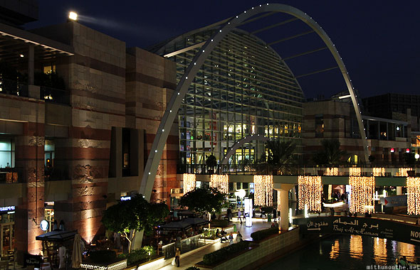 Dubai Festvial City water canal at night