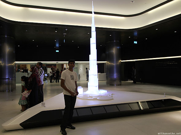 Dubai Mall Burj Khalifa model At The Top