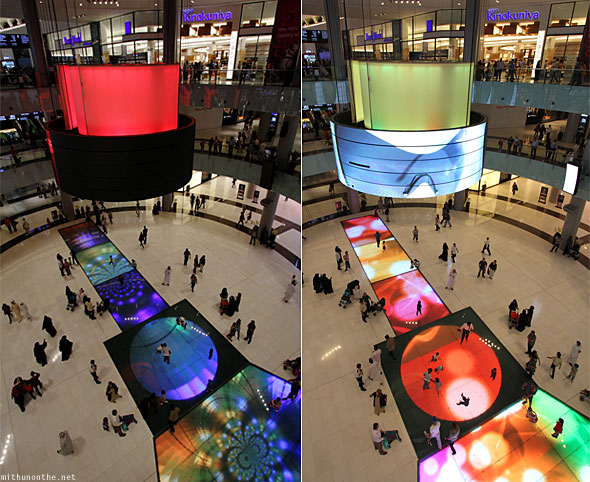 Dubai Mall digital runway screens