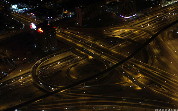 Dubai Sheikh Zayed road flyover intersection