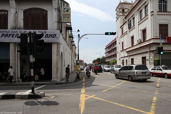 Penang Georgetown traffic intersection