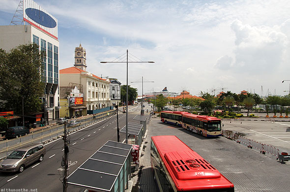 Penang Port road Rapid metro buses