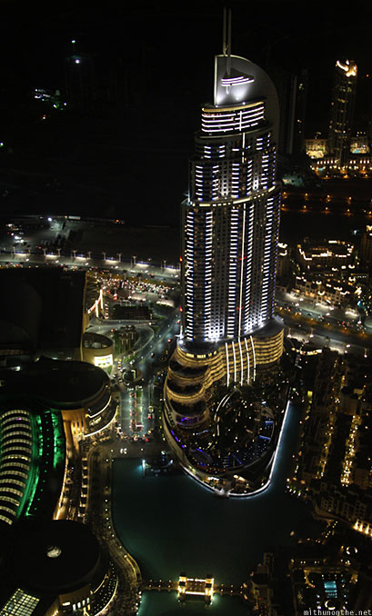 The Address hotel Dubai at night
