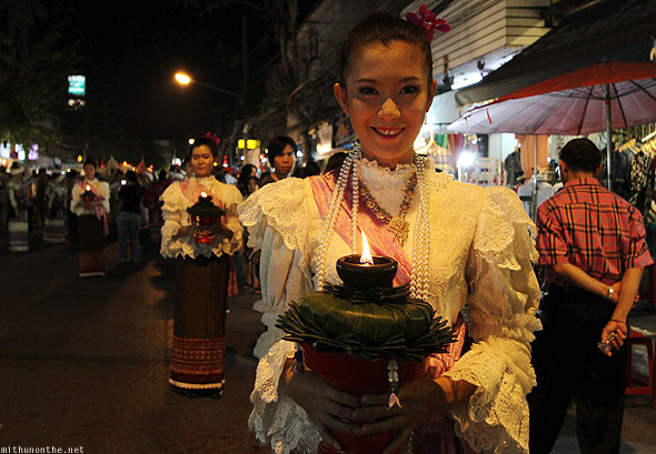 Chiang Mai Thai lady parade