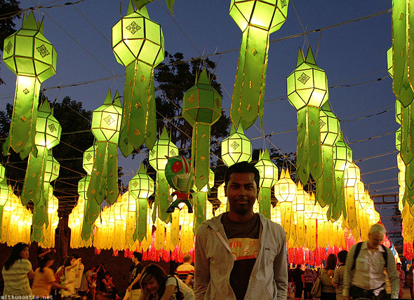 Chiang Mai Thapai lanterns celebrations
