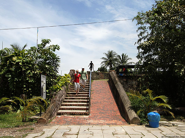 Fort Cornwallis Penang steps down tourists