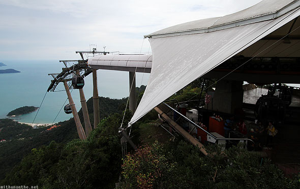 Langkawi cable car first stop station