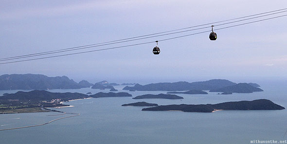 Langkawi cable car Malacca Strait islands view