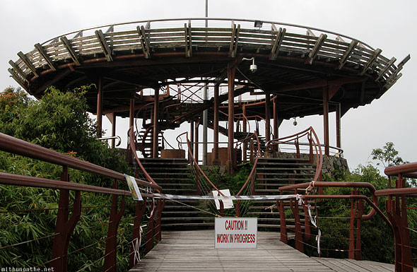 Langkawi cable car observation deck closed