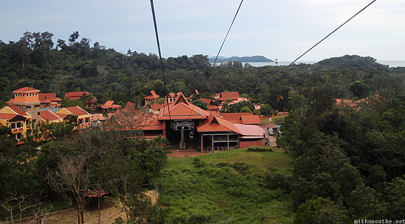 Langkawi Cable Car Oriental Village view