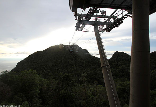 Langkawi cable car pillars