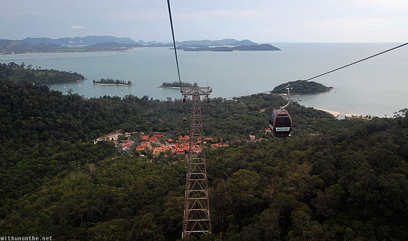 Langkawi cable car sea view