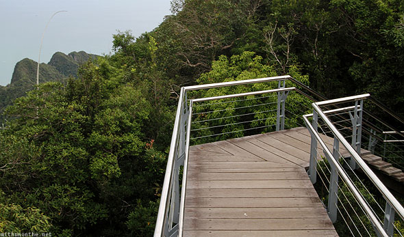 Langkawi cable car steps to observation deck
