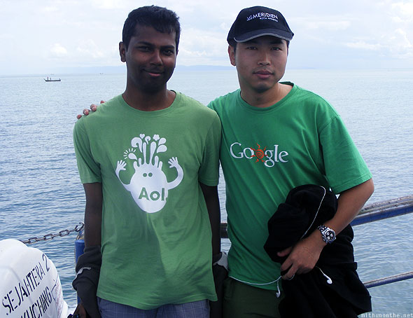 Langkawi ferry ride Mithun AOL Google tshirts