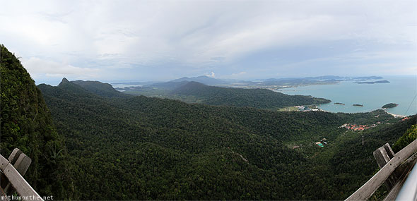 Langkawi Geological Park forest trees panorama