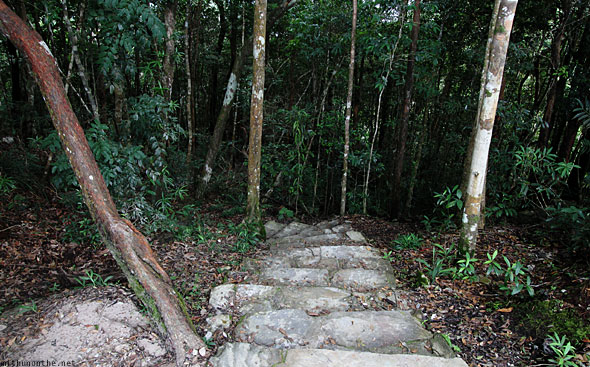 Langkawi geological park trekking path steps