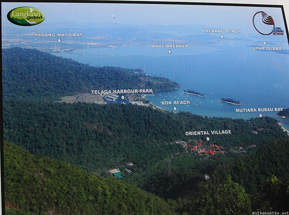 Langkawi geopark observation deck view map