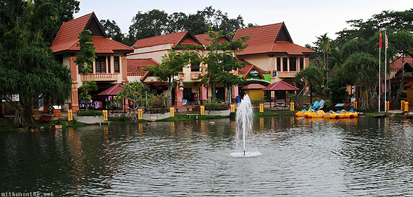 Langkawi Geopark Oriental village pond fountain