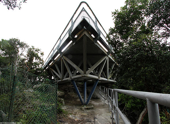 Langkawi sky bridge under platform