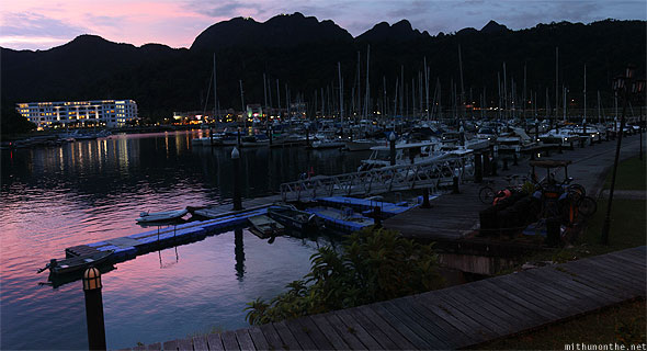 Langkawi Yacht Club evening panorama