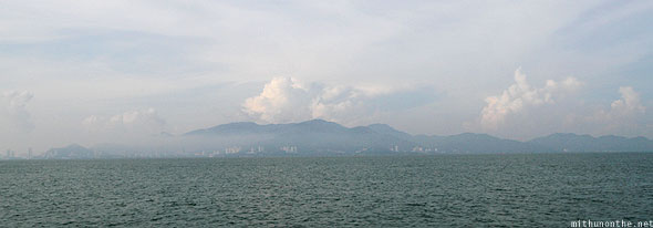Leaving Penang island ferry ride