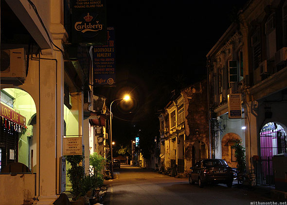 Love Lane Inn guesthouse at night Georgetown Penang
