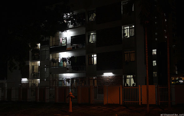 Penang Georgetown residential apartment at night