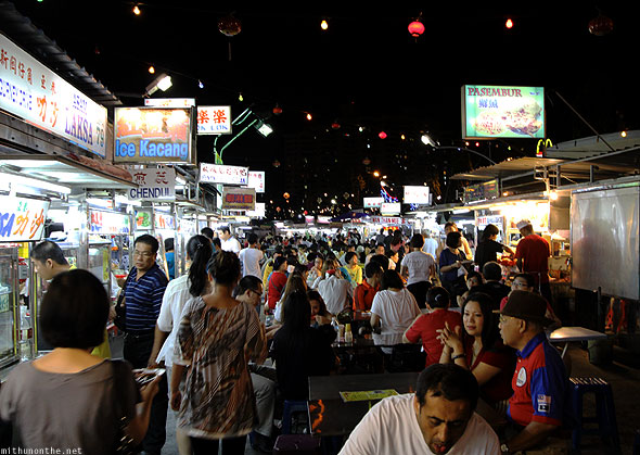 Penang Gurney drive food court crowds