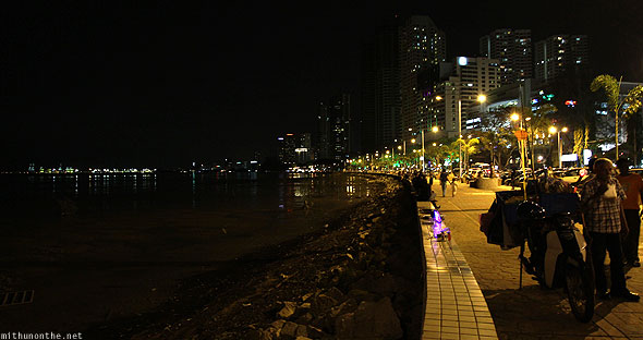 Penang Gurney drive marina at night