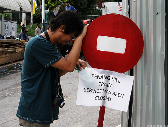 Penang hill tram ride closed Loiyumba