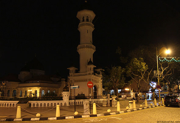 Penang Kapitan Keling mosque Georgetown at night