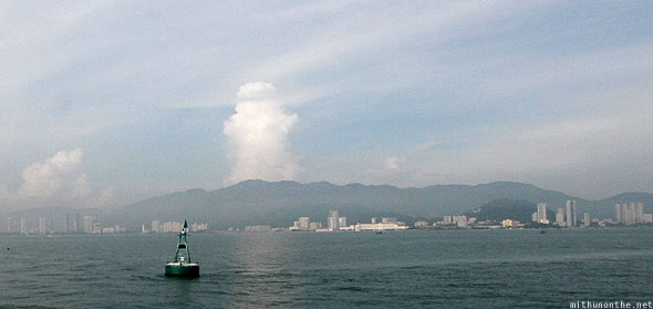 Penang to Langkawi ferry ride mushroom cloud