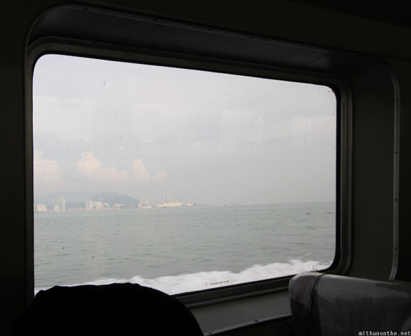 Penang to Langkawi ferry window
