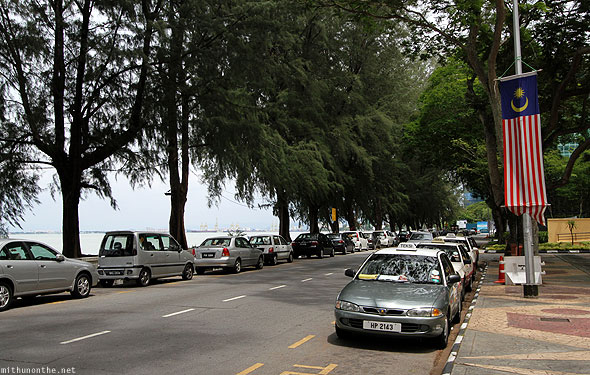 Persiaran Gurney drive seaside car parking