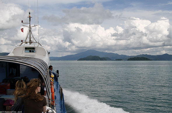 Reaching Langkawi by ferry boat