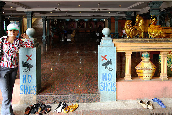 Batu Caves base temple hall no shoes