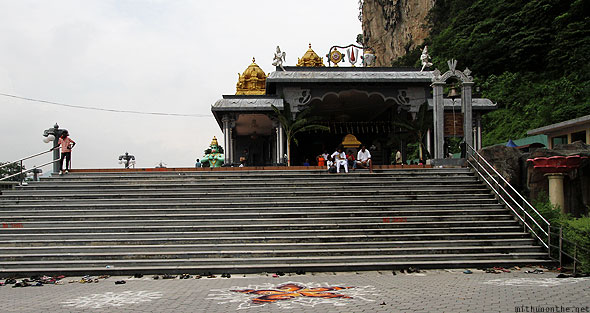 Batu Caves Sri Venkatachalapathi temple steps