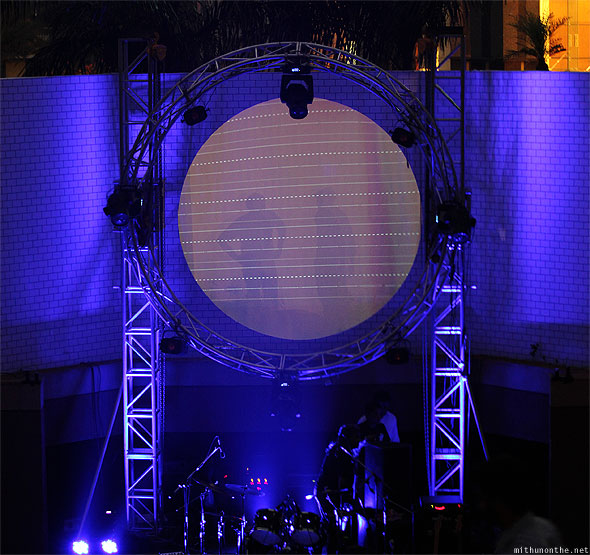 Breathe Pink Floyd concert backdrop UB city