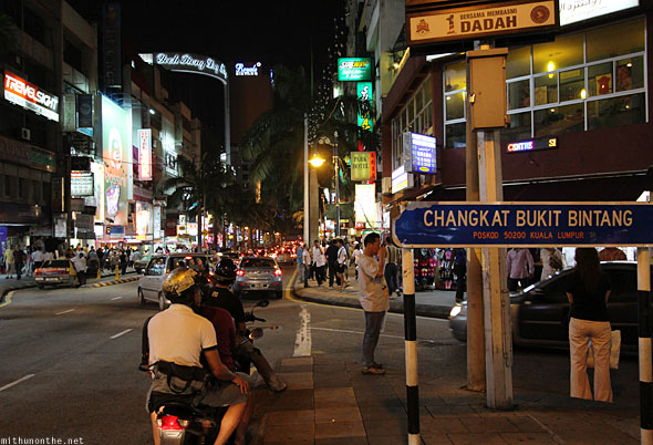 Bukit Bintang street KL at night