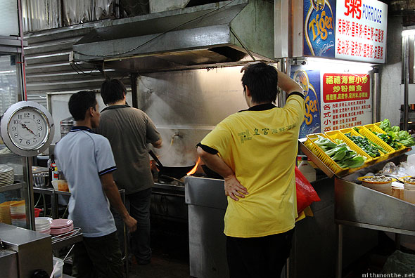 Jalan Alor food street KL kitchen