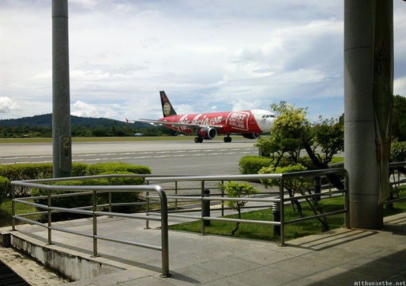 Langkawi airport Air Asia morning flight