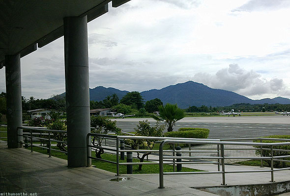 Langkawi airport flying school hills