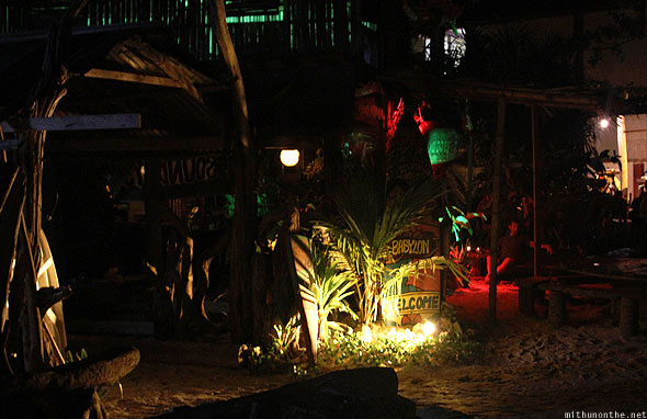 Langkawi Babylon beach bar at night