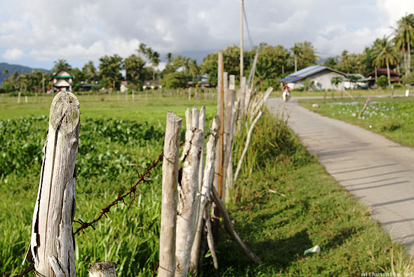 Langkawi field wooden picket fence