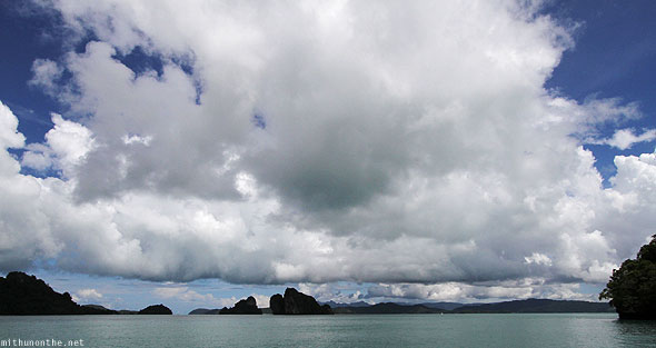 Langkawi geoforest islands blue sky huge cloud