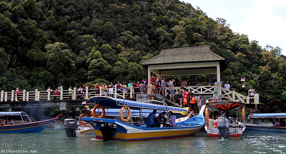 Langkawi geoforest park boats leaving
