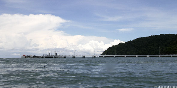 Langkawi island hopping long sea bridge