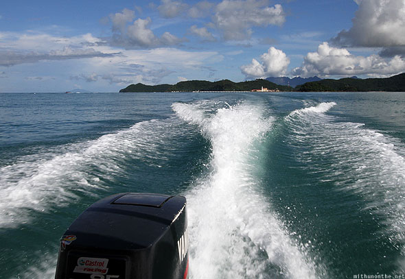 Langkawi island hopping tour speedboat waves