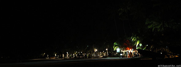Langkawi Pantai Cenang beach at night