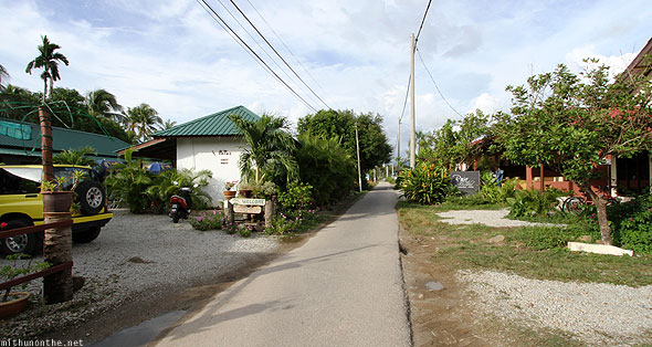 Langkawi Pantai Cenang village houses road
